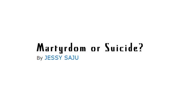 Martyrdom or Suicide?