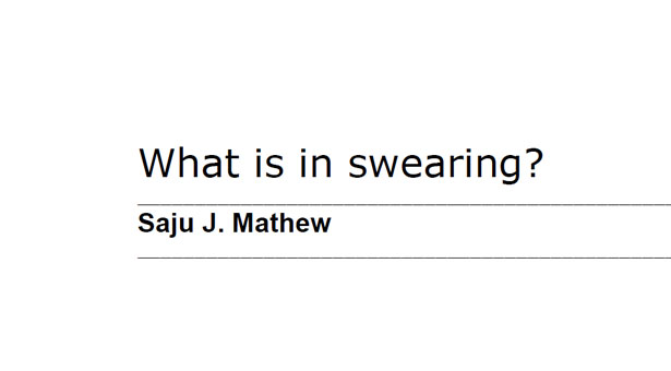 What is in swearing?