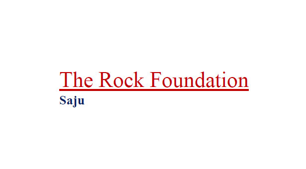 The Rock Foundation