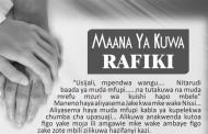 Maana Ya Kuwa Rafiki