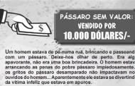PÁSSARO SEM VALOR– VENDIDO POR 10.000 DÓLARES